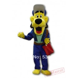 Blue Coat Yellow Dog Mascot Costume