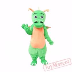 Cplush Green Dragon Mascot Costume