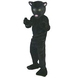 black leopard panther mascot costume