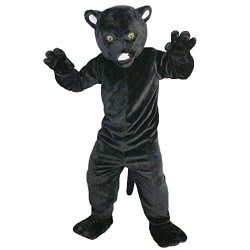 black leopard panther mascot costume