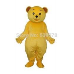 Golden Yellow Teddy Bear Mascot Costume