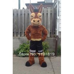 Black Mule Mascot costume