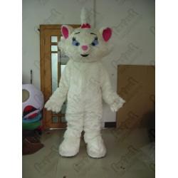 cartoon Aristocats Marie Mascot costumes white cat costumes
