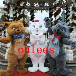 Mascot Costume Toulouse & Marie & Berlioz from the Aristocats cat