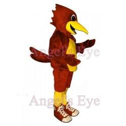 Yellow Belly Red Roadrunner Mascot Scarlet Bird Costume