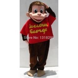 Curious George Monkey Mascot Costume