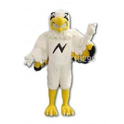 Flashing Lightning White Eagle Mascot Costume