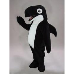 Black Orca Whale Mascot Costume