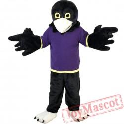 Purple Vest Sport Eagle Mascot Costume Adult