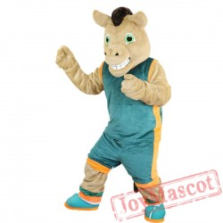 Sport Brown Horse Mascot Costume Adult