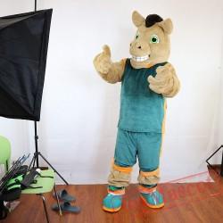 Sport Brown Horse Mascot Costume Adult