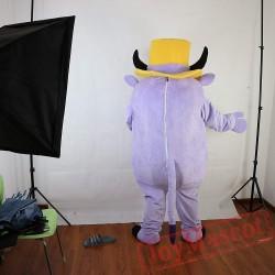Light Purple Pig Mascot Costume Adult