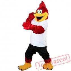Red Sport Eagle Mascot Costume Adult