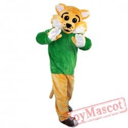 Sports Wild Cat Mascot Costume Adult