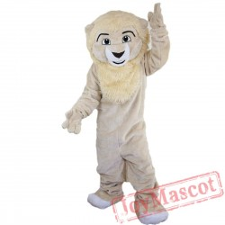 Beige Lion Mascot Costume Adult
