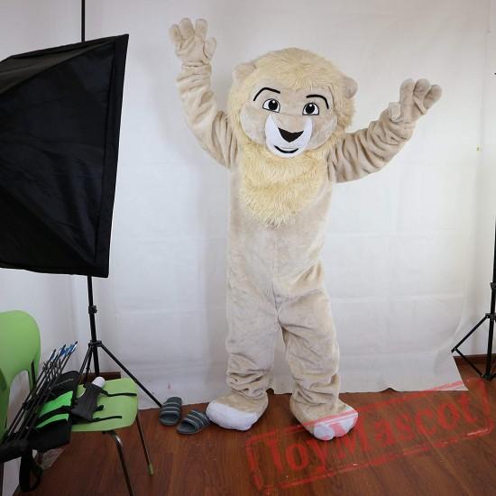 Beige Lion Mascot Costume Adult