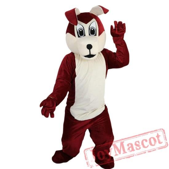 Brown Wolf Dog Mascot Costume Adult