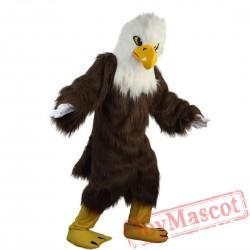 White Head Brown Eagle Mascot Costume Adult