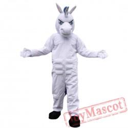 White Unicorn Horse Mascot Costume Adult