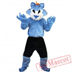 Blue Wolf Mascot Costume Adult
