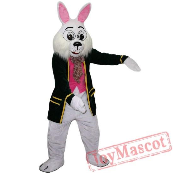 Mr. White Rabbit Mascot Costume Adult