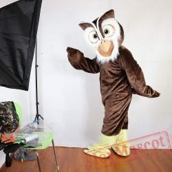 Brown Owl Mascot Costume Adult