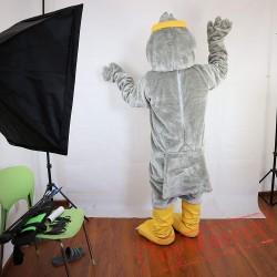 Ggrey Eagle Mascot Costume Adult