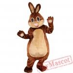Brown Rabbit Bunny Mascot Costume Adult