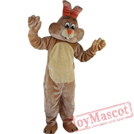 Beige Rabbit Mascot Costume Adult