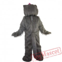 Grey Cat Mascot Costume Adult