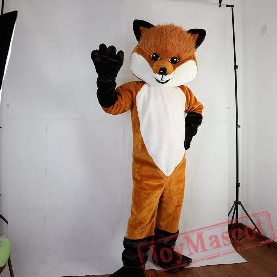 Brown Hairy Fox Mascot Costume Adult