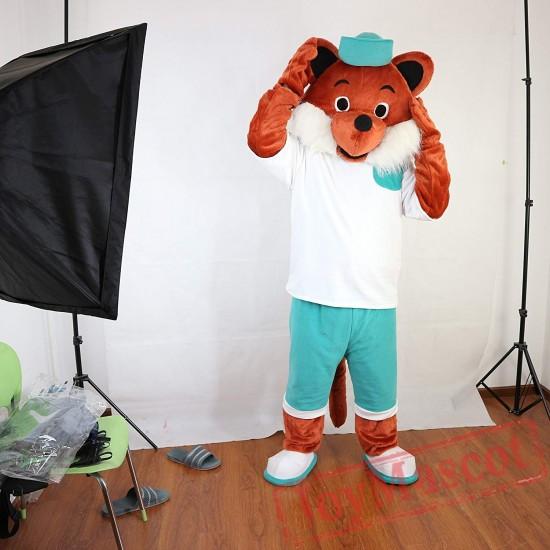Sport Brown Fox Mascot Costume Adult