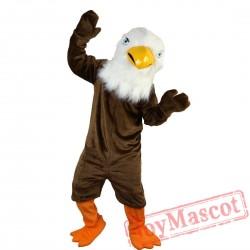 Brown Eagle Bird Mascot Costume Adult
