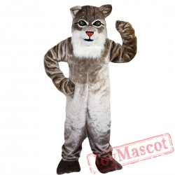 Grey Cat Mascot Costume Adult