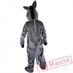 Grey Donkey Mascot Costume Adult