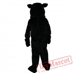 Black Felis Silvestris Cat Mascot Costume Adult