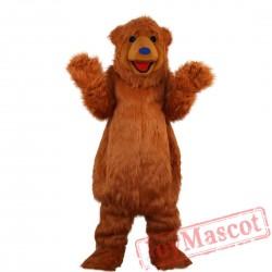 Brown Bear Mascot Costume Adult