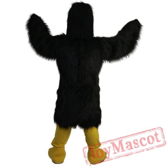 Black Eagle Mascot Costume Adult