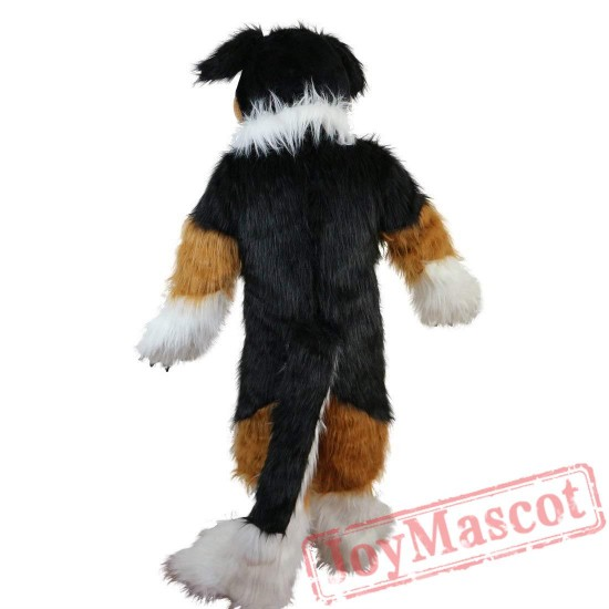 Fox Dog Husky Long Hairy Cartoon Mascot Costume
