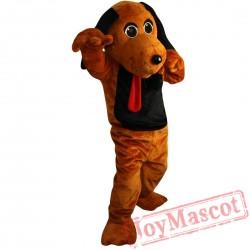 Brown Dog Mascot Costume Adult