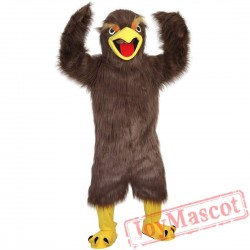 Brown Eagle Mascot Costume Adult