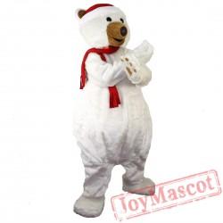 Christmas Polar Bear Mascot Costume Adult