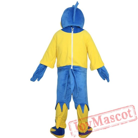 Blue Sports Eagle Mascot Costume Adult