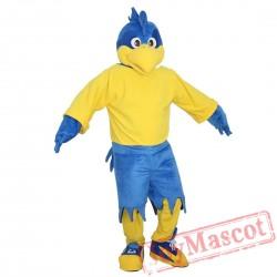 Blue Sports Eagle Mascot Costume Adult