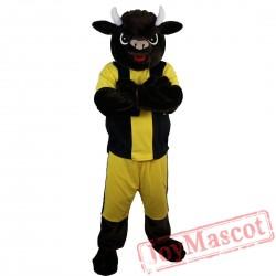 Sport Cow Bull Mascot Costume Adult