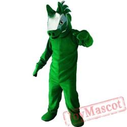 Halloween Green Horse Mascot Costume