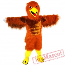Red Brown Eagle Mascot Costume Adult