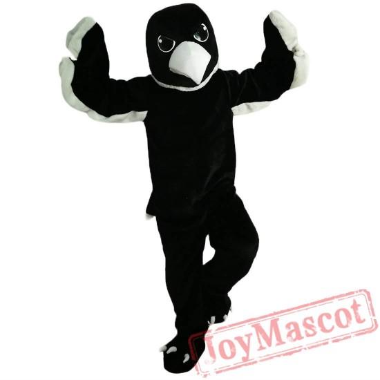 Black White Eagle Mascot Costume Adult