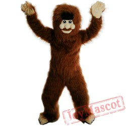 Long Hair Savage Mascot Costume