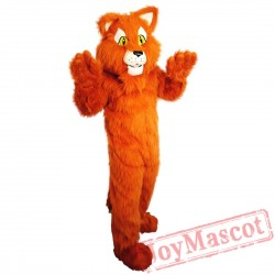 Long Hair Cat Mascot Costume Adult